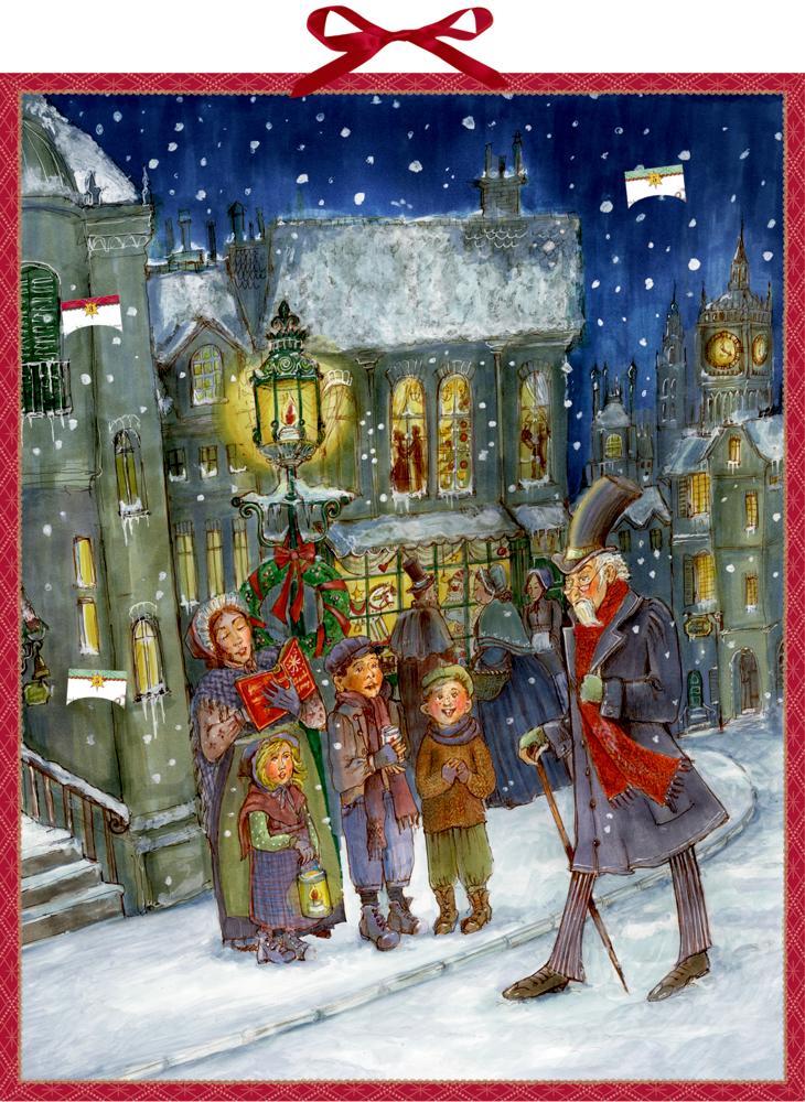 Die Weihnachtsgeschichte von Charles Dickens, Zettel-Adventskalender