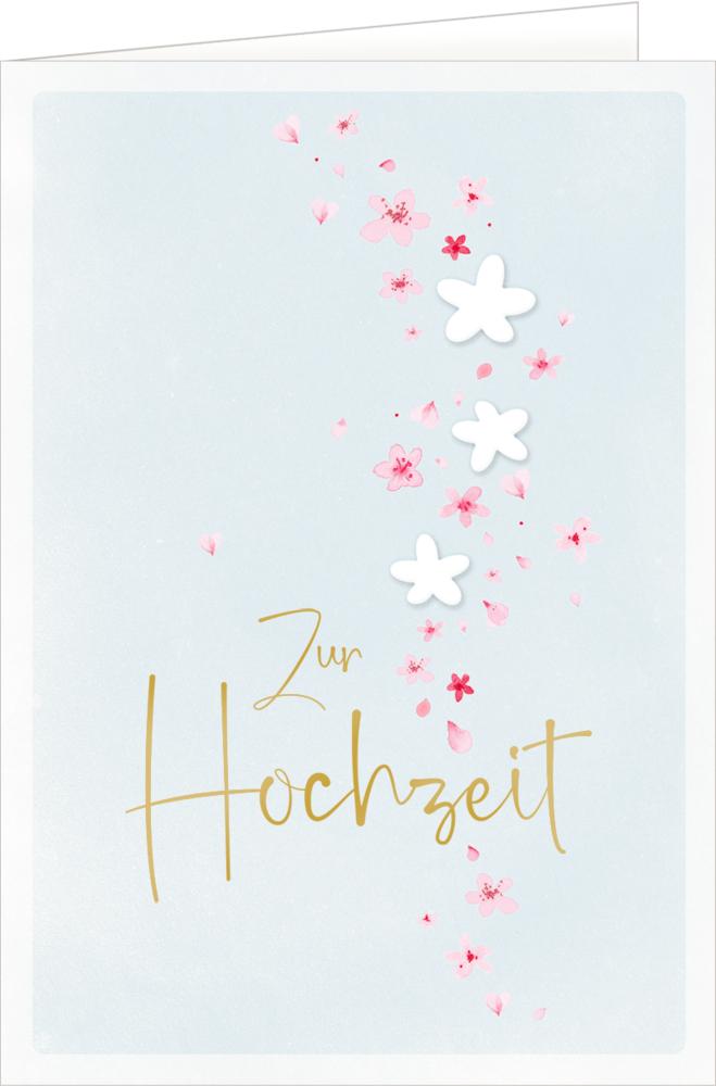 Grußkarte - Zur Hochzeit (Blütenzauber)