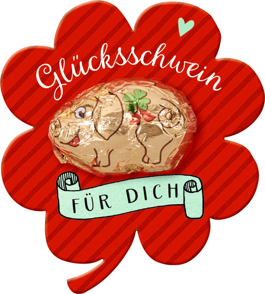 Schoko-Glücksschwein Viel Glück
