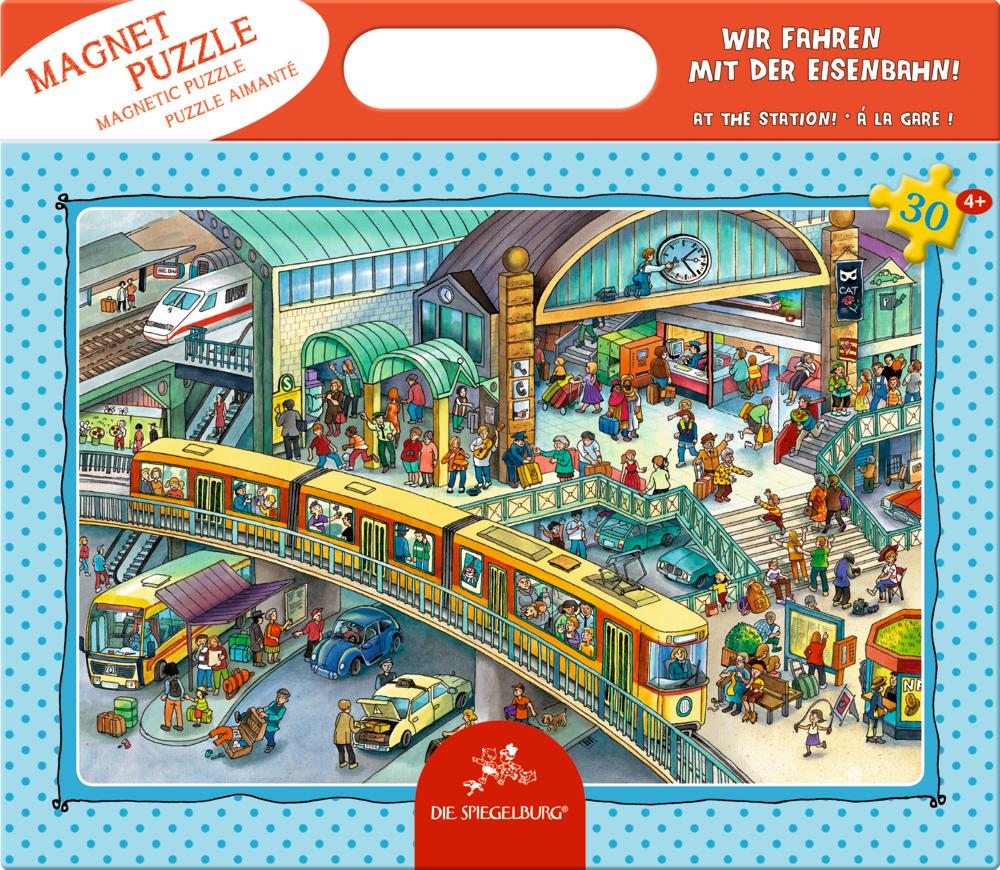 Magnetpuzzle Wir fahren mit der Eisenbahn! (30 Teile)