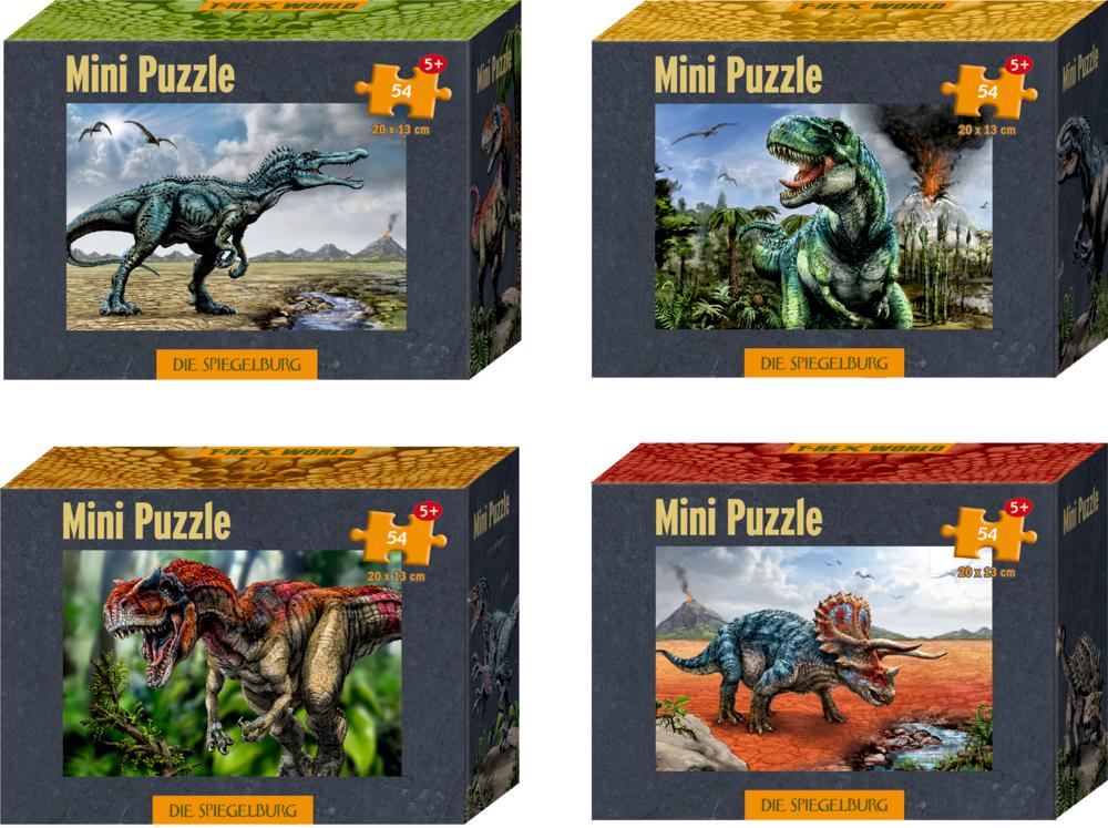 Mini-Puzzle T-Rex World (54 Teile)
