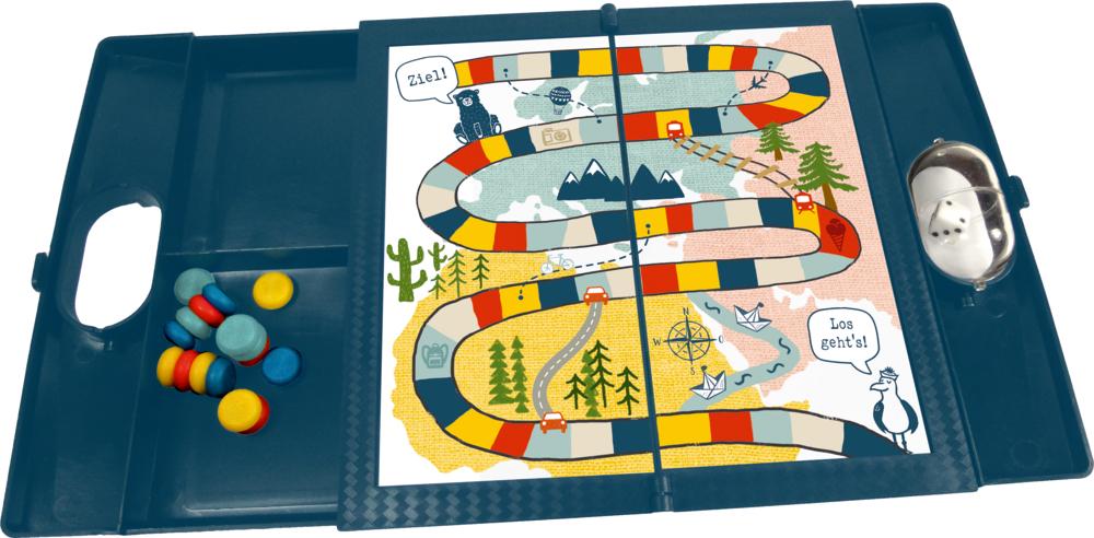 Magnetisches Reisespiel Ludo & Leiterspiel Reisezeit Kids