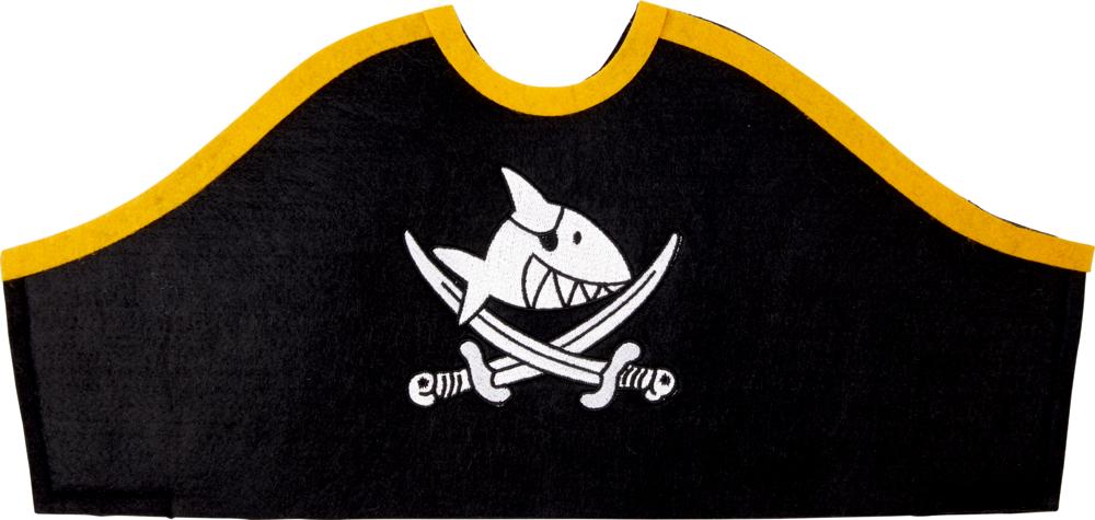 Piratenhut Capt'n Sharky (ca. 40 x 19 cm)