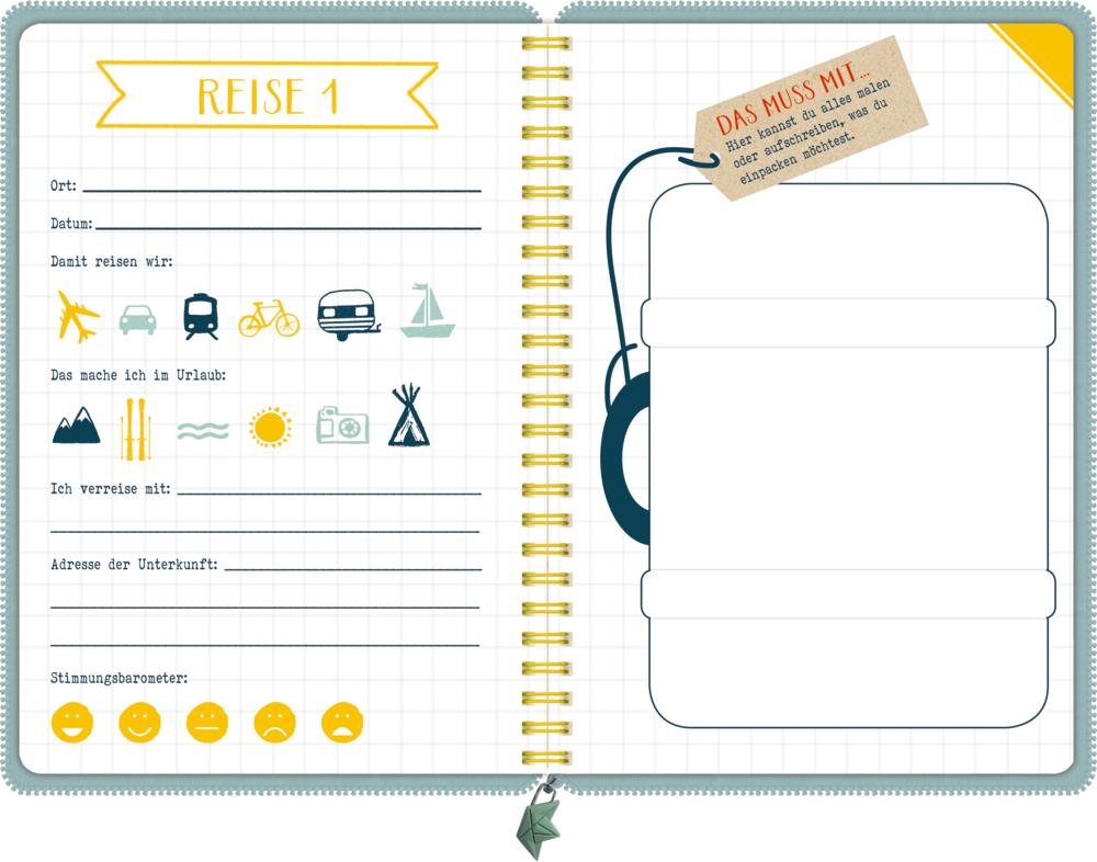 Reisetagebuch - Alle meine Abenteuer (Reisezeit Kids)