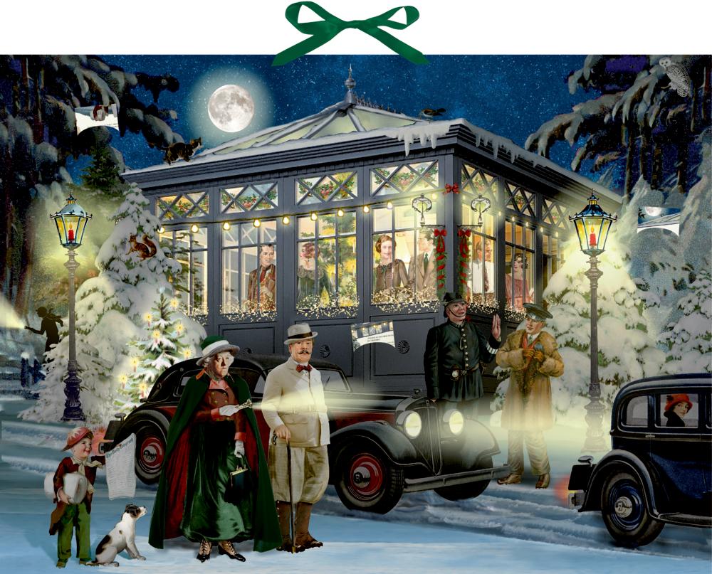 Weihnachten mit Agatha Christie, Zettel-Adventskalender (Behr)