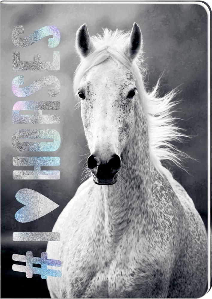 Notizheft DIN A5 - I LOVE HORSES