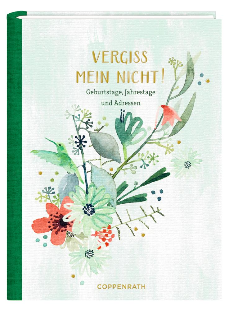 Immerwährender Geburtstagskalender Vergiss mein nicht! (All about green)