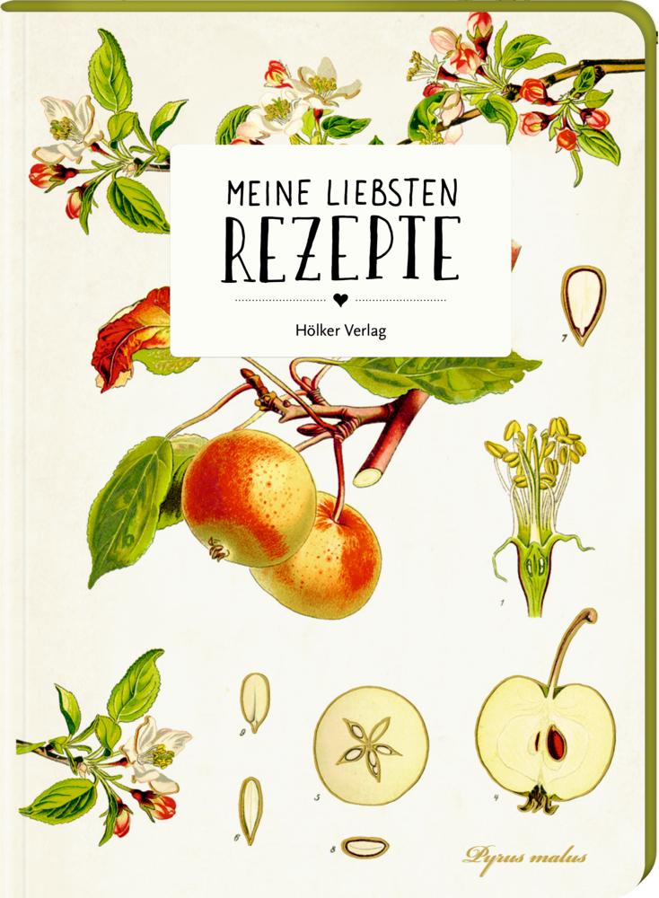 Meine liebsten Rezepte - Einschreibbuch (Äpfel)