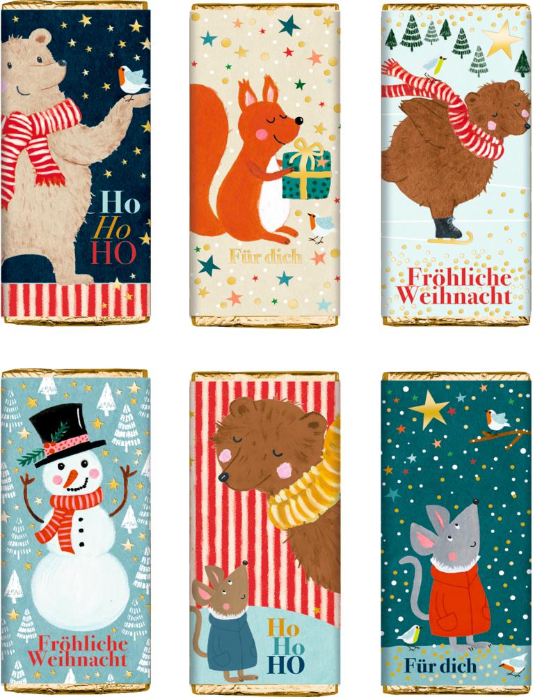 """Schokolade """"Süße Weihnachtsgrüße"""" 30g (Bärenstarke Weihnachten)"""
