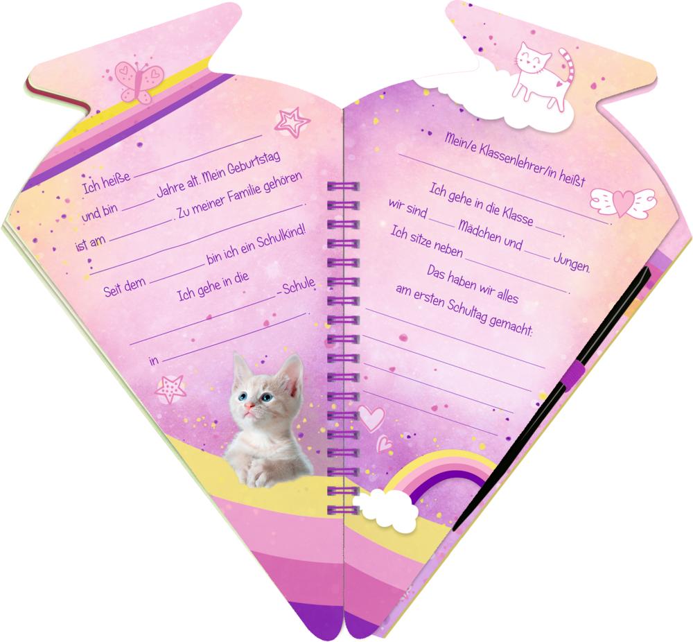 Schultüten-Kratzelbuch: Cosmic School - Hurra, endlich Schule! (Kätzchen)