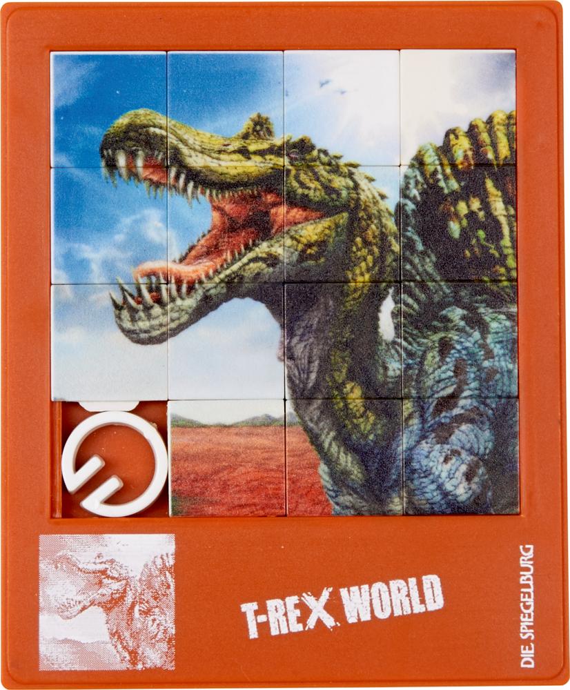 Schiebepuzzle T-Rex World, sort.