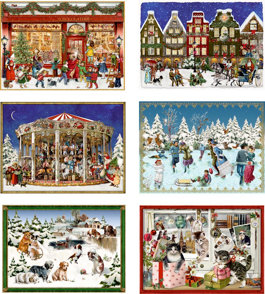 Fröhliche Adventszeit, Miniatur-Adventskalender (Behr)