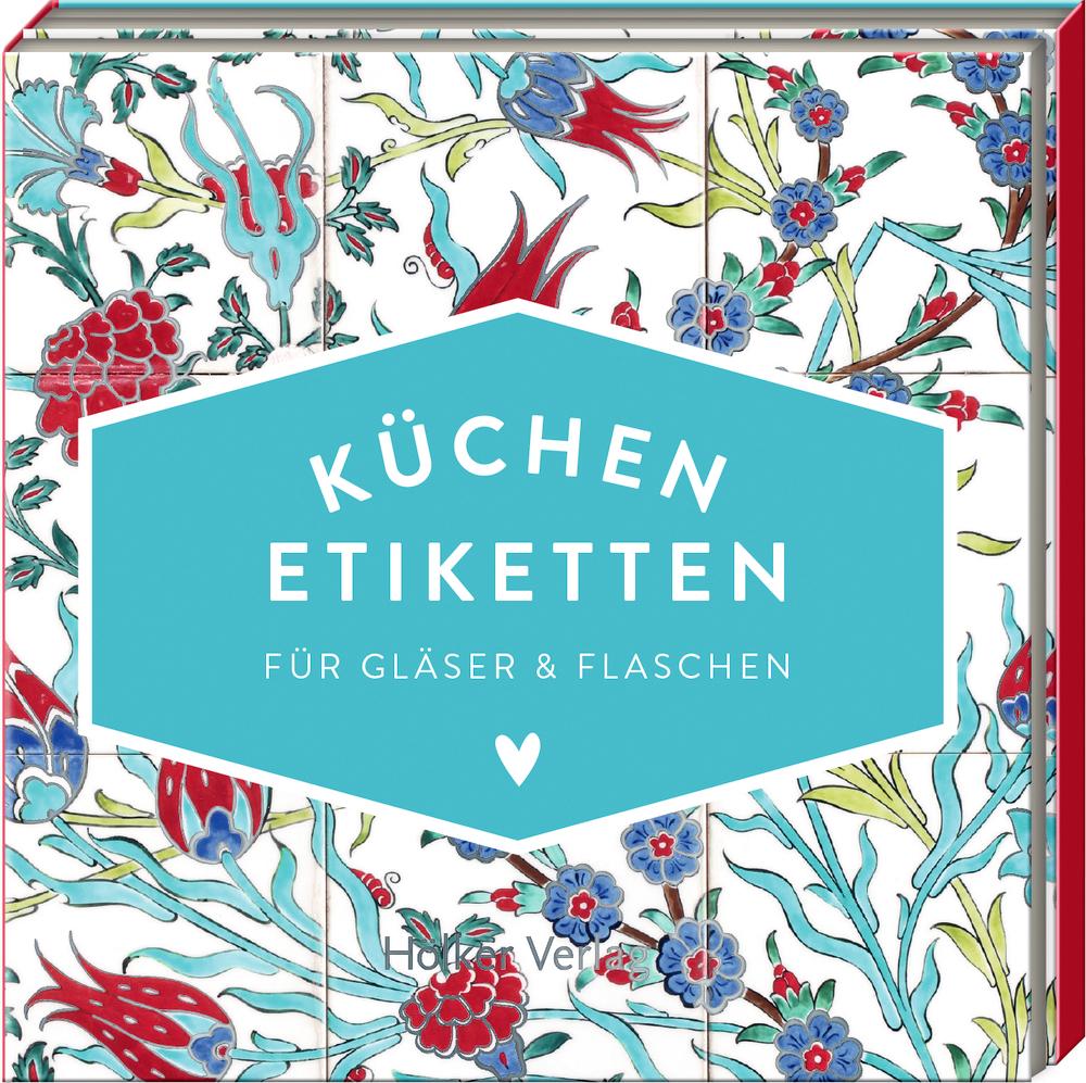 Küchen-Etiketten für Gläser & Flaschen, Türkis (Küchenpapeterie)