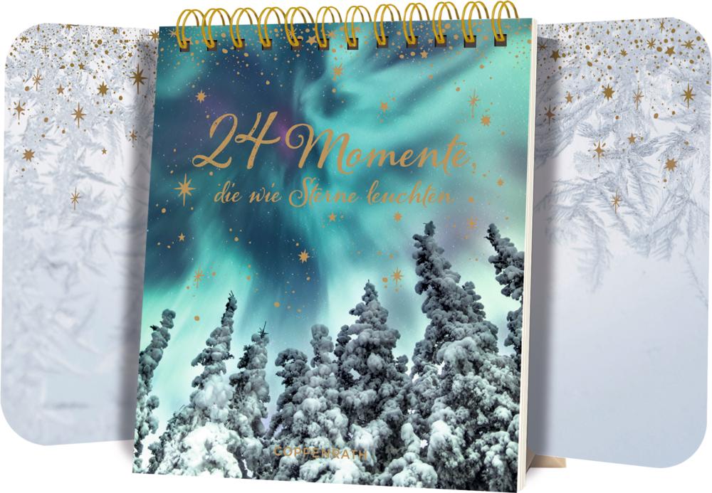 24 Momente, die wie Sterne leuchten, Tisch-Adventskalender mit Flügeltüren