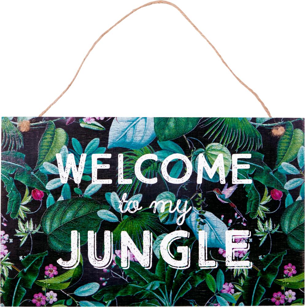 "Gartenschild ""Welcome to ..."" I love my Jungle (Garden)"
