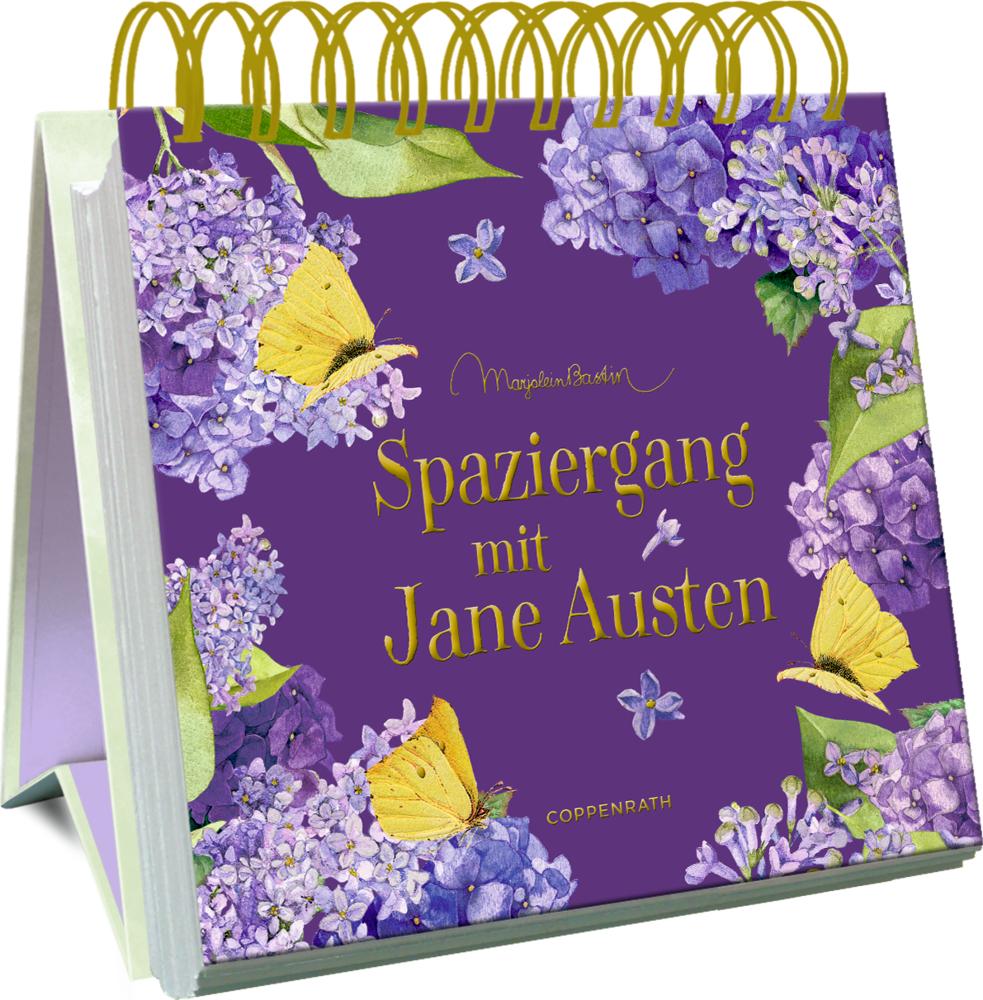 Großes Spiralaufstellbuch: Spaziergang mit Jane Austen (M.Bastin)