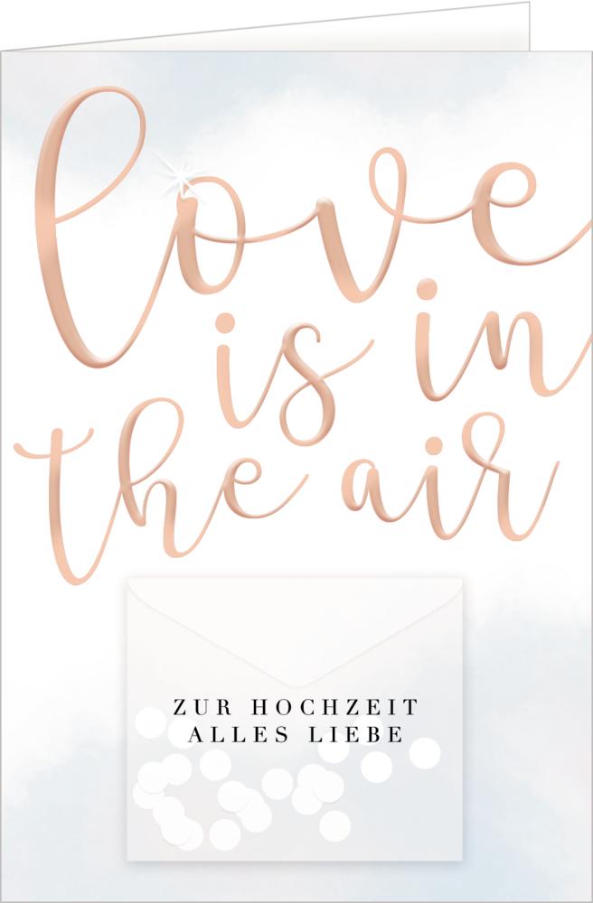 Grußkarte - Love is in the air (Hochzeit)