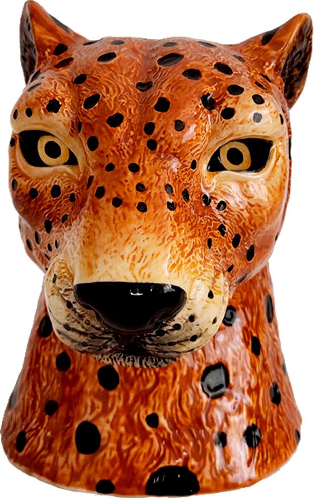 "Vase Leopard ""I love my Jungle"" Garden"