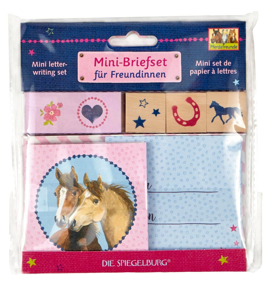 Mini-Briefset für Freundinnen Pferdefreunde