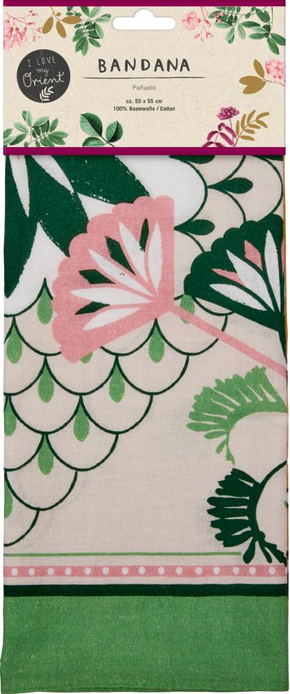 "grünes Bandana ""I love my Orient"" Garden"