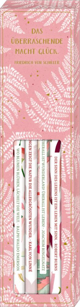 Bleistift-Set mit Sprüchen - All about rosé