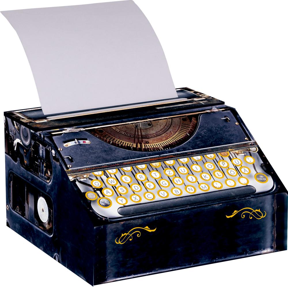 Schreibmaschinen-Notizrolle - Sherlock Holmes