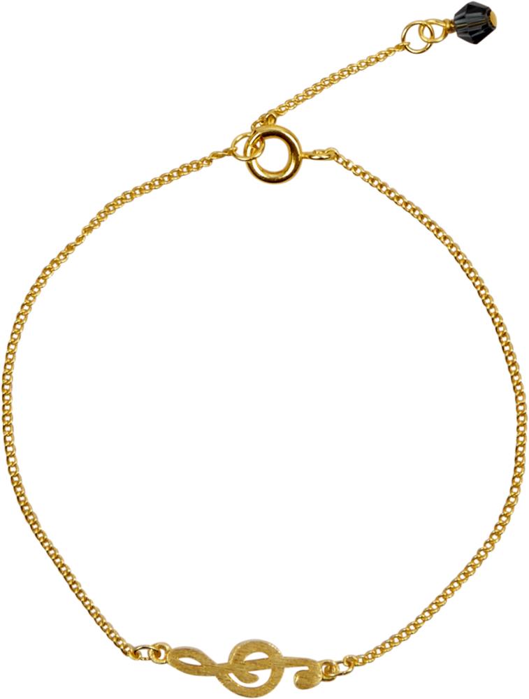 goldenes Armband All about music (Violinschlüssel)