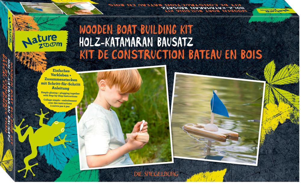 Holz-Katamaran Bausatz Nature Zoom