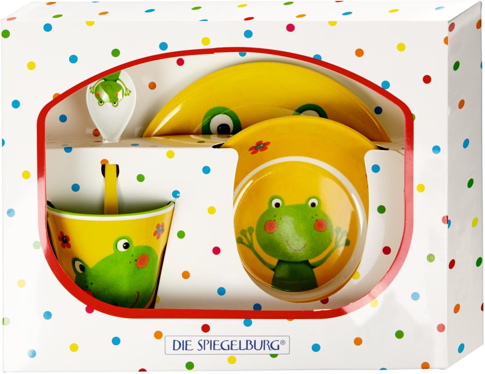 Melamin-Geschenkset Frosch  Freche Rasselbande