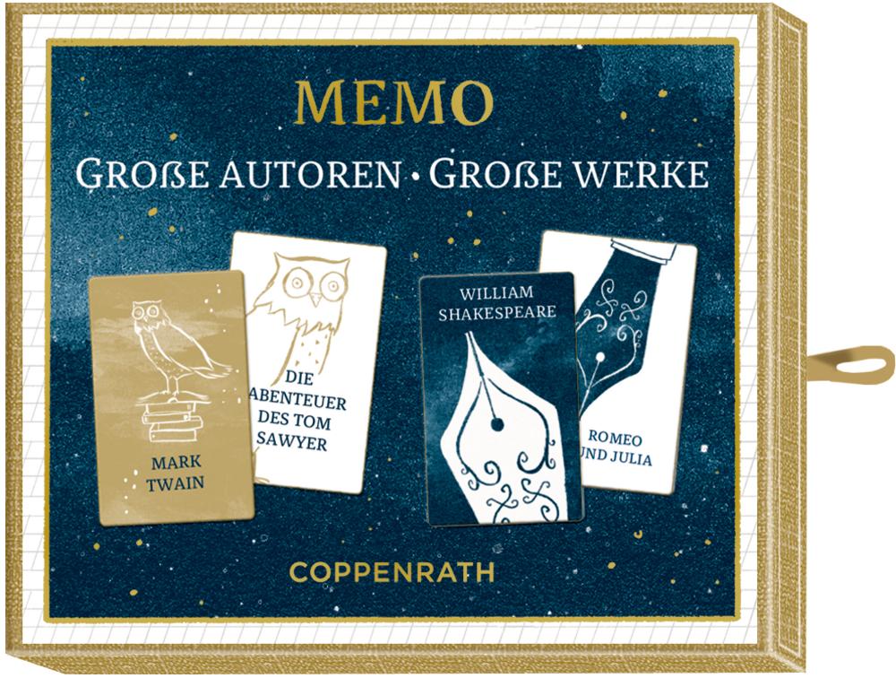 "Schachtelspiel: Memo ""Große Autoren - Große Werke"" BücherLiebe!"