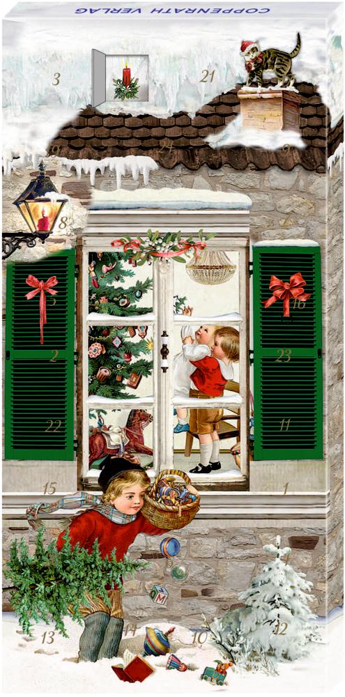 Weihnachtsfenster, Adventskalender-Schokolade (B.Behr)
