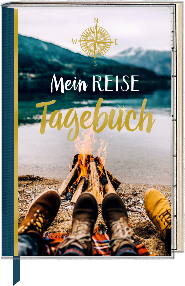 Eintragbuch mit Sammeltasche Mein Reisetagebuch (Reisezeit/Lagerfeuer)