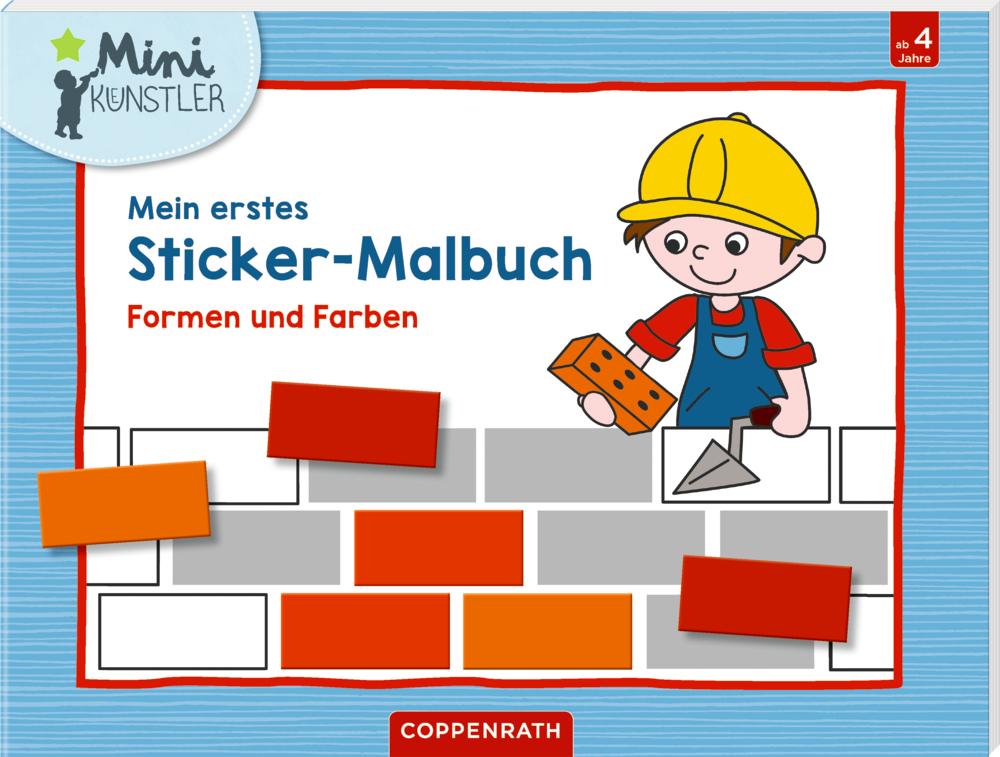 Mein erstes Sticker-Malbuch: Formen u. Farben (Mini-Künstler)