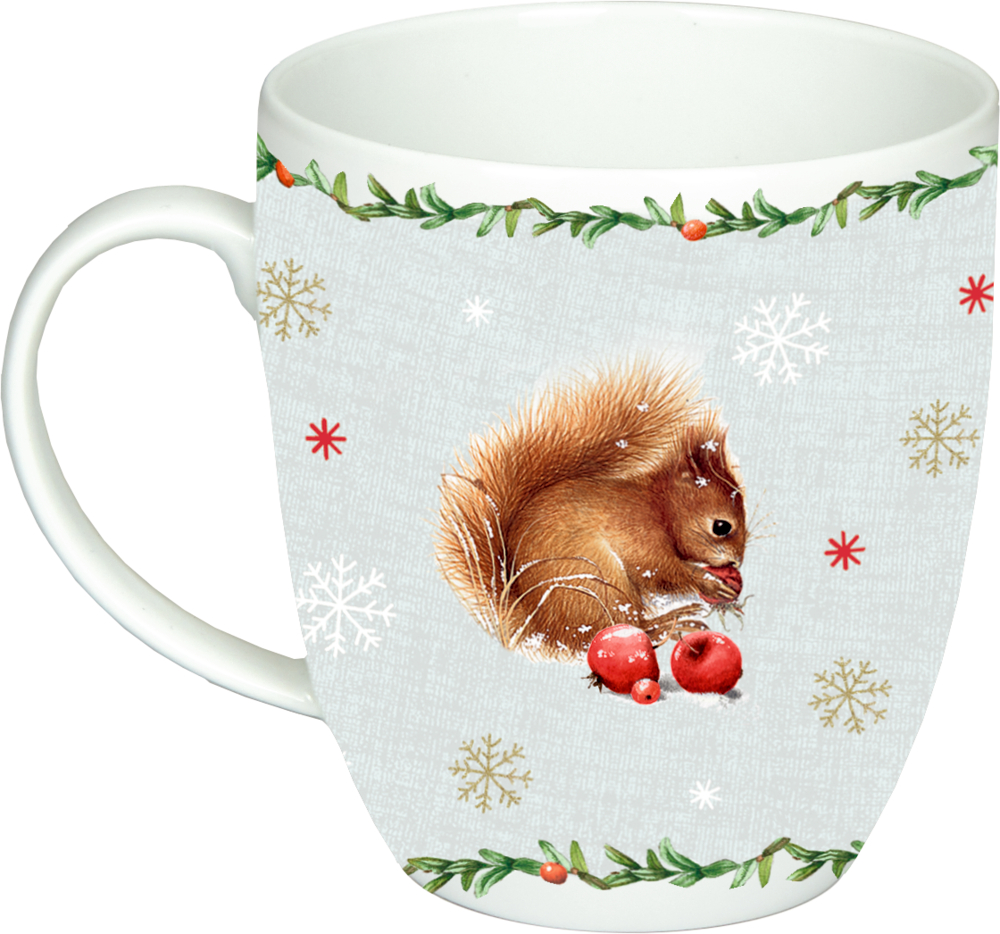 """Tasse """"Eichhörnchen"""" Zauberhafte Weihnachten M.Bastin"""
