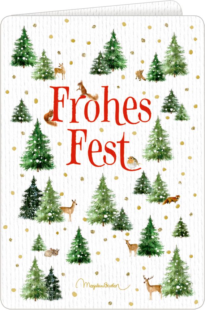 Weihnachtskarte mit Kuvert - Wundervolle Weihnachtsgrüße (Bastin)