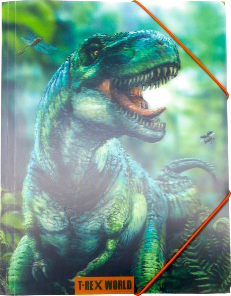 Sammelmappe A4 T-Rex World (mit 3D-Effekt)