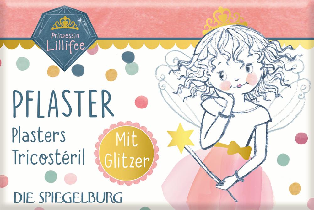 Pflasterstrips mit Glitzer Prinzessin Lillifee (10 St.) Glitter & Gold