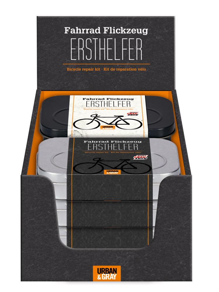 Fahrrad Flickzeug ERSTHELFER Urban & Gray