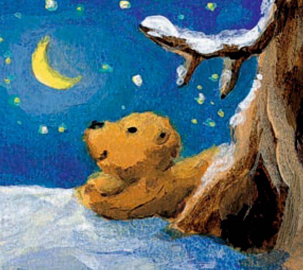 Der Mondbär im Weihnachtshimmel, Wand-Adventskalender