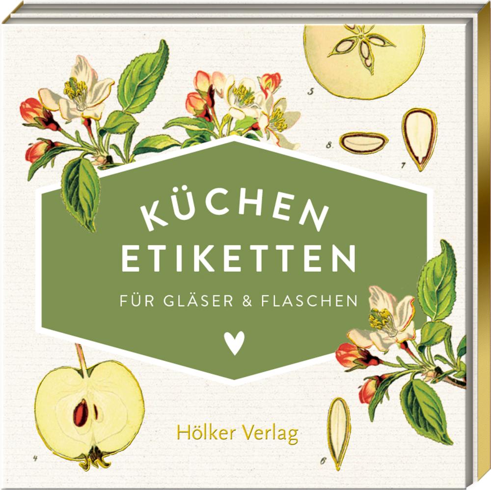 Küchen-Etiketten f.Gläser&Flaschen, Äpfel (Küchenpapeterie)
