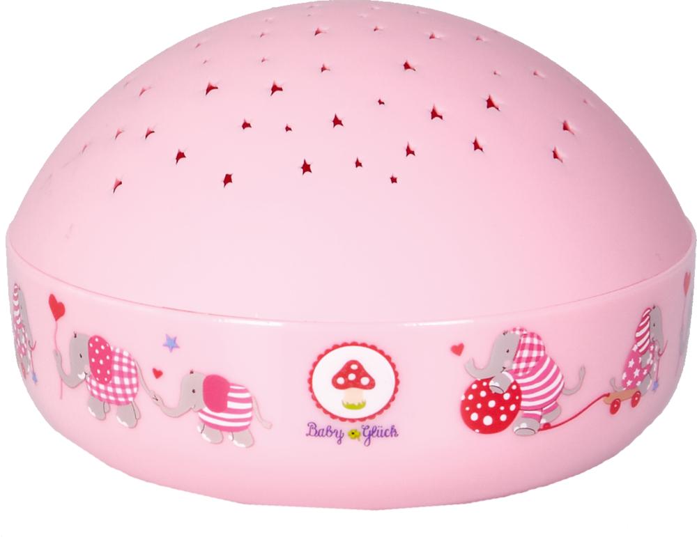 Nachtlicht Sternenhimmel BabyGlück, rosa (Elefant)