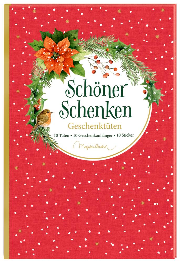 Geschenktüten-Buch: Schöner schenken (Weihnachtlich/Bastin)