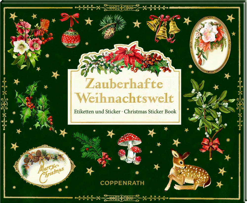 Stickerbuch: Zauberhafte Weihnachtswelt - Etiketten&Sticker
