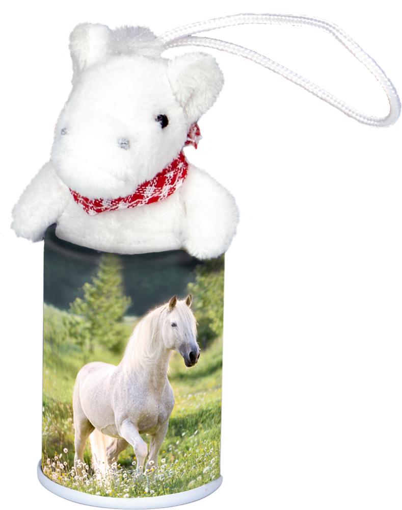 weiß, Pferde-Anhänger im Döschen  Pferdefreunde