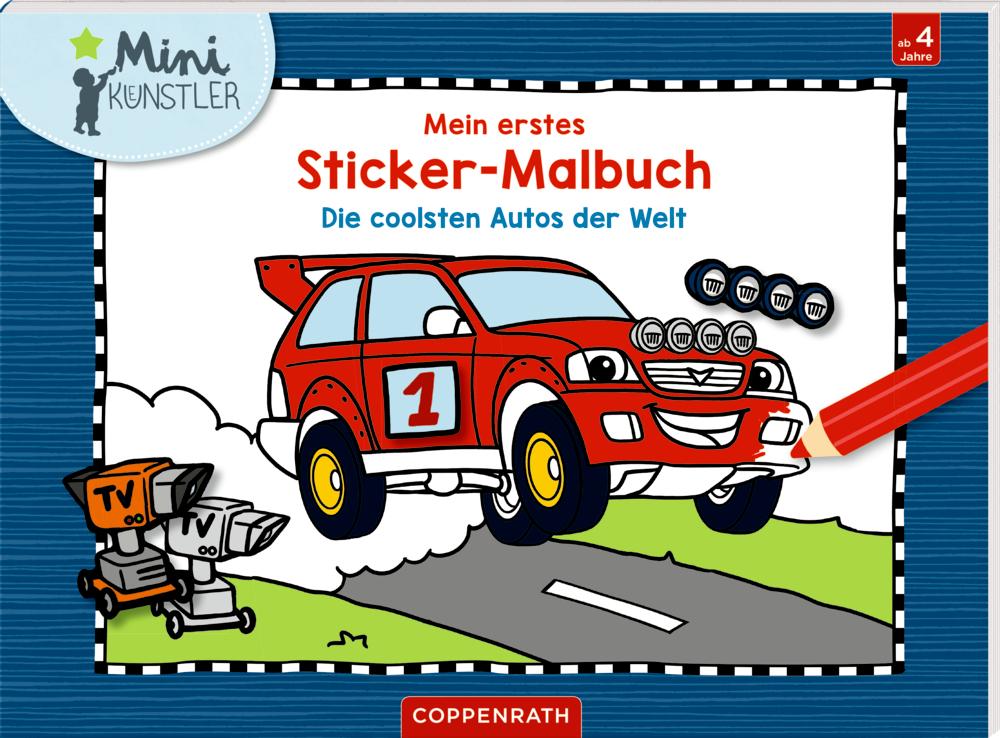 Mein 1. Sticker-Malbuch.: Die coolsten Autos der Welt (M-Künstler)
