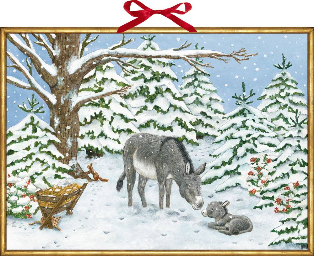 Weihnachtsesel, Wand-Adventskalender