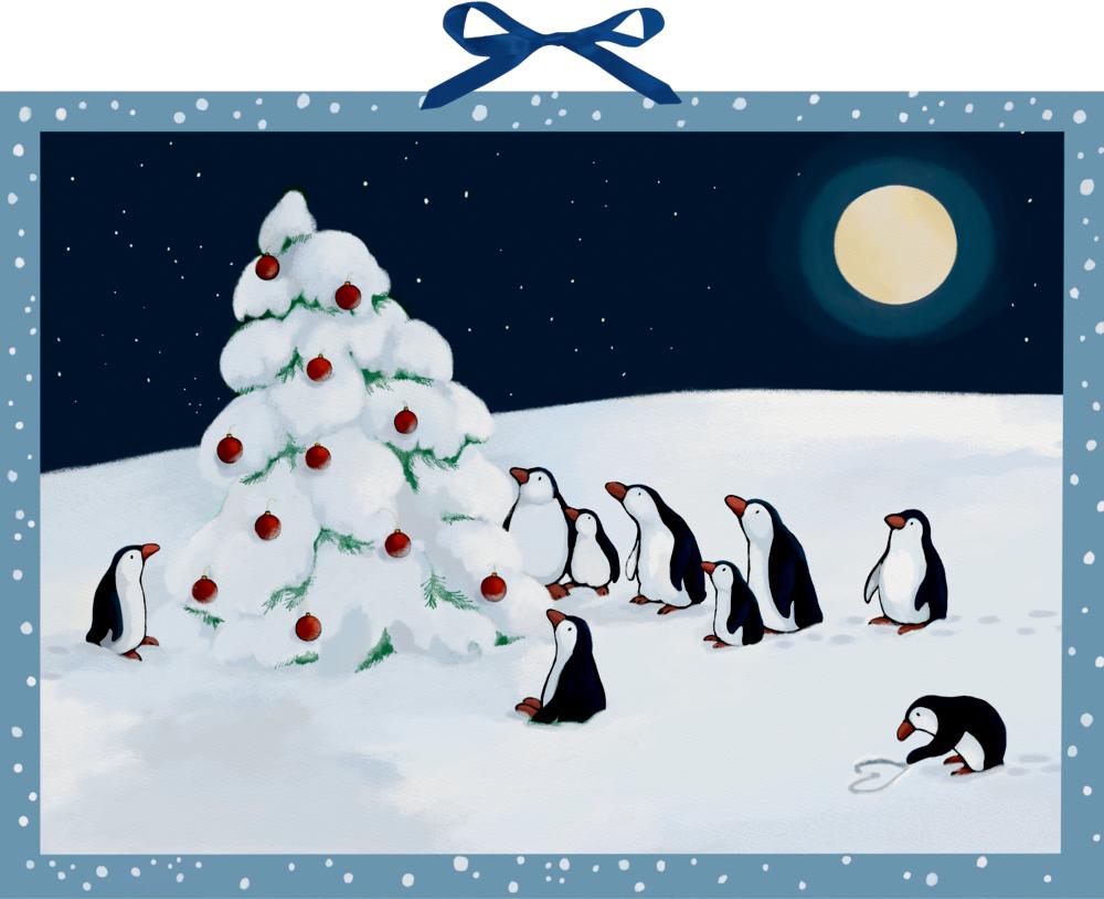 Pinguin-Weihnacht, Wand-Adventskalender