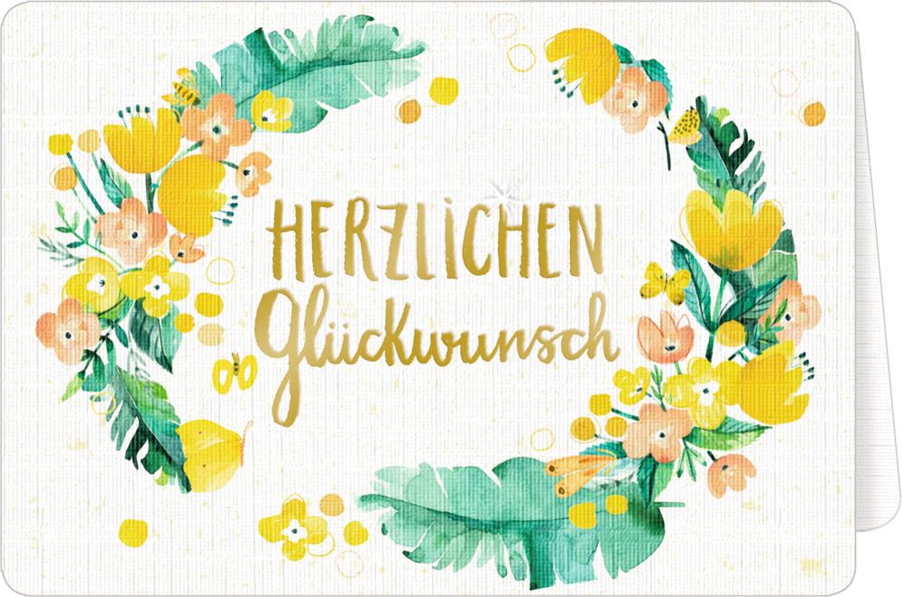 Grußkarte mit Kuvert - All about yellow