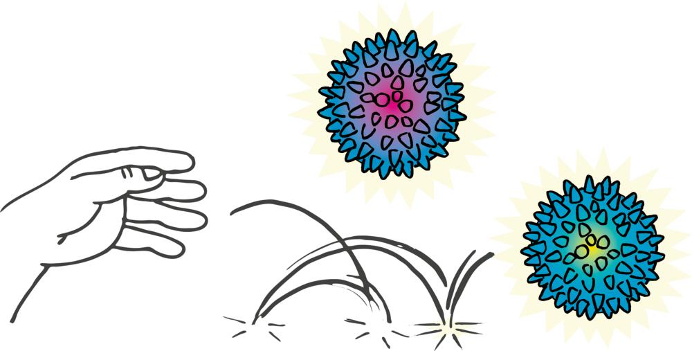Spiky-Leuchtball Wild+Cool