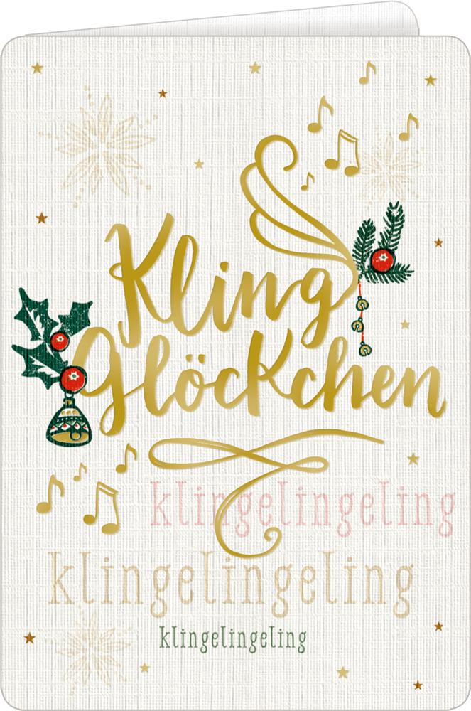 Weihnachtskarte mit Kuvert: Weihnachtliche Grüße
